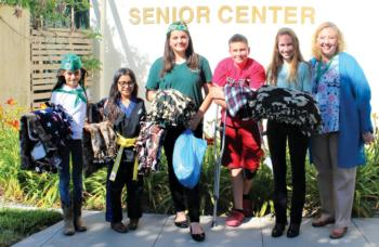 Conejo Simi Club youth made and donated 51 blankets for wheelchair-bound Simi Valley seniors