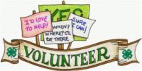 4-H Volunteer Banner